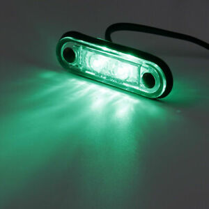 12/24V FLUSH FIT LED GREEN SIDE MARKER LIGHT For KELSA BAR TRUCK TRAILER VAN