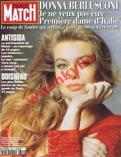 Paris Match n°2342 du 14/04/1994 Donna Berlusconi Doisneau Sida Van Damme