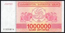 Georgia 1000000 Laris billete de 1994 * 11535814 * AUNC * P-52 *