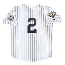 Derek Jeter 2009 New York Yankees Serie Mundial Blanco Casa para Hombre Jersey (M-2XL)