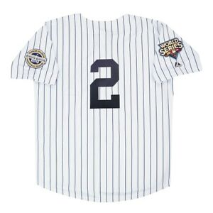 Derek Jeter 2009 New York Yankees World Series White Home Men's Jersey (M-2XL)