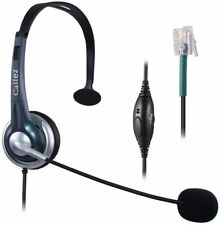Callez Corded Office Telephone Headset RJ9, with Noise Canceling Mic
