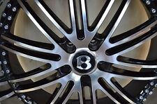22-inch Mercedes Benz Bentley Wheels/Rims Staggered GTX23 Black 5x112 Lugs