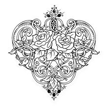 Heart Vines Stampendous Cling Rubber Stamp