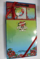 New Ed Hardy Lisa Frank Magnetic Dry Erase Board Set Notepads Marker Magnets Nip