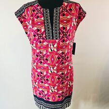 NEW LAUNDRY By Shelli Segal Women's Geo Print Shift  Career Dress