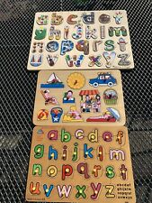 3 Children's Wooden Puzzles
