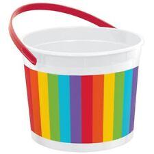 Amscan Rainbow Plastic Bucket 11.4cm X 15cm