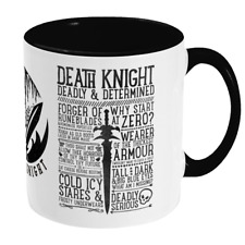 World of Warcraft / RPG inspired DEATH KNIGHT Mug - Gamer Gift / WoW Classic