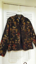 CHICO'S WOMEN'S JACQUARD LONG SLEEVES JACKET, SZ. 1 (M)