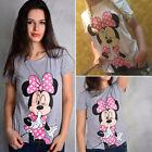 Femmes Graphique Chemisier éTé Minnie Mouse En vrac T-Shirt Manche Courte Haut