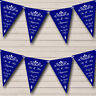 Party Banner Bunting Vintage Regal Navy Blue Personalised Wedding Anniversary