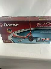 New Razor E100 Electric Ride On Scooter 40 Minute Run Time Rear Wheel Drive Red