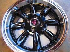 FIAT 500, 124 SPIDER, X1/9, 131, MONZA WHEELS, 15X6.5 GLOSS BLACK, COMPETIZIONE
