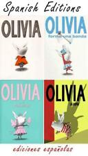 SPANISH Olivia by Ian Falconer HARDCOVER Book Collection 1-4 EN ESPANOL New