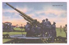 Anti Aircraft Gun Unit US Army Military WWII linen postcard