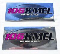 KMEL 106  Set of TWO Radio Station Bumper Sticker's  SF Hip Hop R&B
