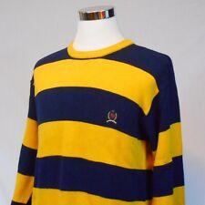 Vtg 90s Tommy Hilfiger ,L/S,Crew Neck Bold,Striped Sweater US Men's Large,Crest