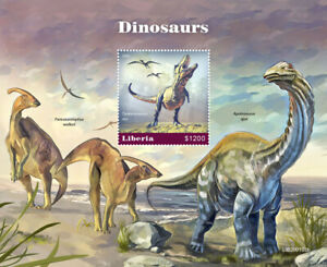 Liberia Dinosaurs Stamps 2020 MNH T-Rex Apatosaurus Prehistoric Animals 1v S/S