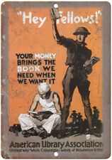 """Committee On Public Information War Poster 10/"""" x 7/"""" Reproduction Metal Sign M70"""