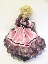 2003 Limited Edition Donna RuBert Pink Dress Porcelain Girl Doll 22 in.