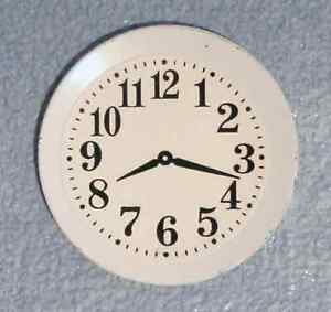 DOLLS HOUSE 1/12 SCALE WALL/PLATE CLOCK IN WHITE
