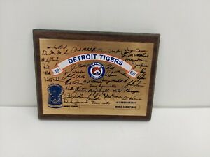 1968 DETROIT TIGERS World Series Champions 10th Anniversary Plaque 1978