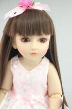 18''/45cm BJD Ball Jointed Doll Full Hard Vinyl Girl Toy For Kids Pink Dress New