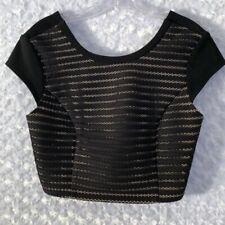 A. B. S. By Allen Schwartz stripe texture crop top Women's Medium NEW With Tags