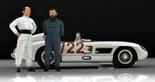 Moss & Jenkinson Figure pour 1:18 CMC Mercedes 300SLR #722 Mille Miglia 1955 RAR