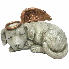 Angel Dog with Halo and Wings Cremation Urn Statue Ashes Memorial Bereavement