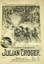 Julian Croger The Wolves or Race For Life Piano Solo Antique Sheet Music Scarce