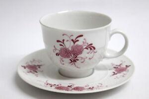 Seltmann Weiden Annabell Rote Blüte Kaffeetasse und Untere
