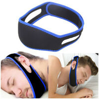 Snore Anti Snoring Strap Stop Chin Belt Sleep Apnea Jaw Support Aid Sleeping
