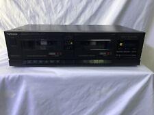 New ListingTechnics Rs-T16-Km Stereo Dual Double Cassette Tape Deck Player Recorder Vintage