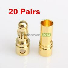 New 40 Pcs 3.5mm Gold-plated Bullet Banana Plug Connector RC Battery