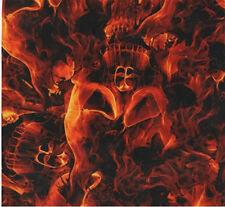 Wassertransferdruck Folie Skulls Fire Feuer Skulls 3 - 100cm breit
