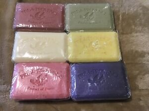 PRE DE PROVENCE NATURAL   SOAP LOT OF BARS  8.8 oz FRANCE DEFECTS