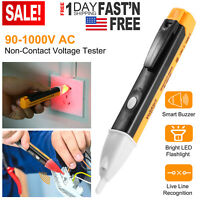 Electric Non-Contact Voltage Tester Pen AC Volt Alert Detector Sensor 90~1000V