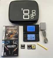 Nintendo DSi Black Handheld w/ Charger, Case & 5 Games Metroid, Call Of Duty