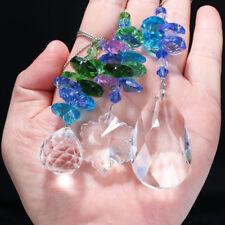 Set3 Blue Crystal Suncatcher Chandelier Lamp Parts Pendant Xmas Gifts Home Decor