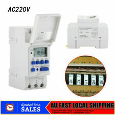 Digital LCD Power Programmable DIN Rail Timer Time Switch Relay AC 220v -240v AU