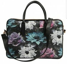 Paperchase Gothic Garden Black Floral laptop bag bnwt