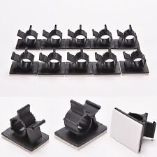 10Set Cable Clips Adhesive Cord Management Wire Wall Holder Organizer Clamp BR