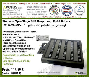 Siemens Unify OpenStage BLF40 - Busy Lamp Field 40 lava  / Rg. incl. MwSt.
