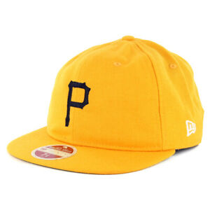 "New Era 5950 Pittsburgh Pirates ""Vintage Wool Classic"" Fitted Hat (Yellow) Cap"