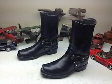 SQUARE TOE HARNESS USA BLACK LEATHER ENGINEER BOSS BIKER MOTORCYCLE BOOTS 10.5 D