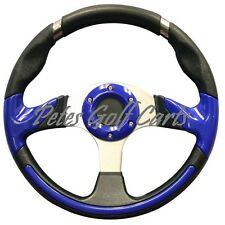 Golf Cart Steering Wheel 13 Inch Black Blue Club Car Ezgo Yamaha