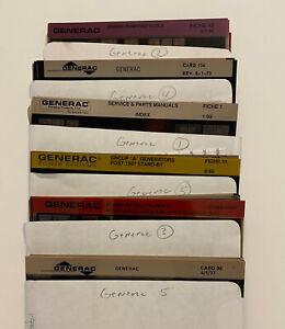 Generac Microfiche Cards Vintage Documentation Generators Engines Panels Welder