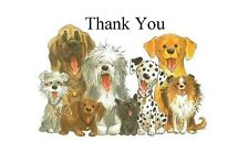 Thank You Dogs Large Sticky White Paper Stickers Labels New